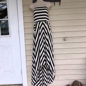 FREE PEOPLE high-low strapless knit dress/NEW